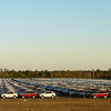 this is the parking lot at Golden Isle. No not for the track it is a staging area for Honda and Kia cars....7,000 of them!