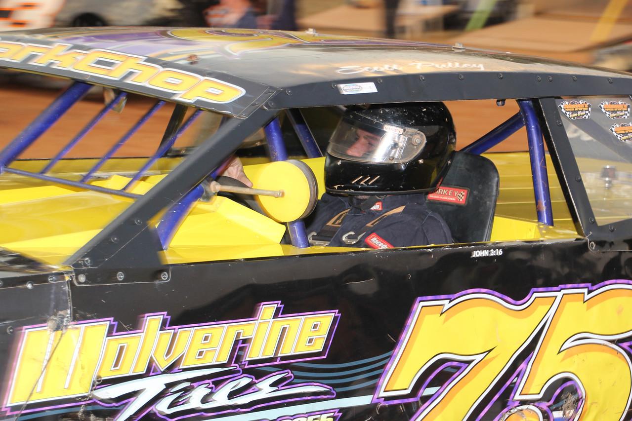 """#75 Scotty """"Porkchop"""" Pulley...2013 Renegade Champion at Harris Speedway."""