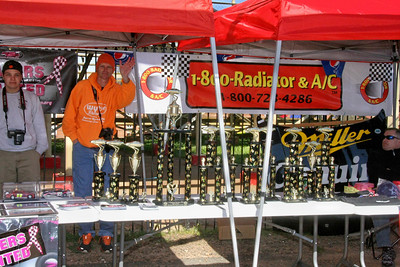 car show trophies ready to go to the winners
