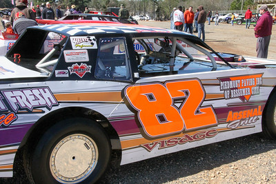 Paul Visage has improved a lot...since he put the LuvRacin decal on his car