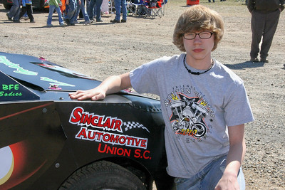 Zachary has Sinclair Automotive in Union, SC helping him with a sponsorship