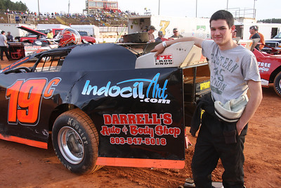 young Wes went from Go Karts straight to crate class late models.