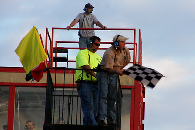 track operator...and flagman...Andy Thompson