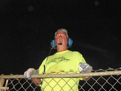 !-77 crew member Robert Jones,  watches the track