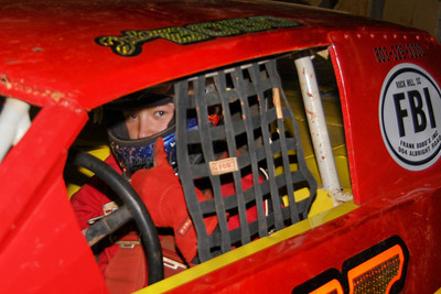 Bobo in the FBI car