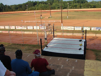 Carolina Speedway fans had a ring side seat for the Friday races and wrestling matches.