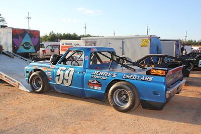 Jerry Knight's pick-em-up truck