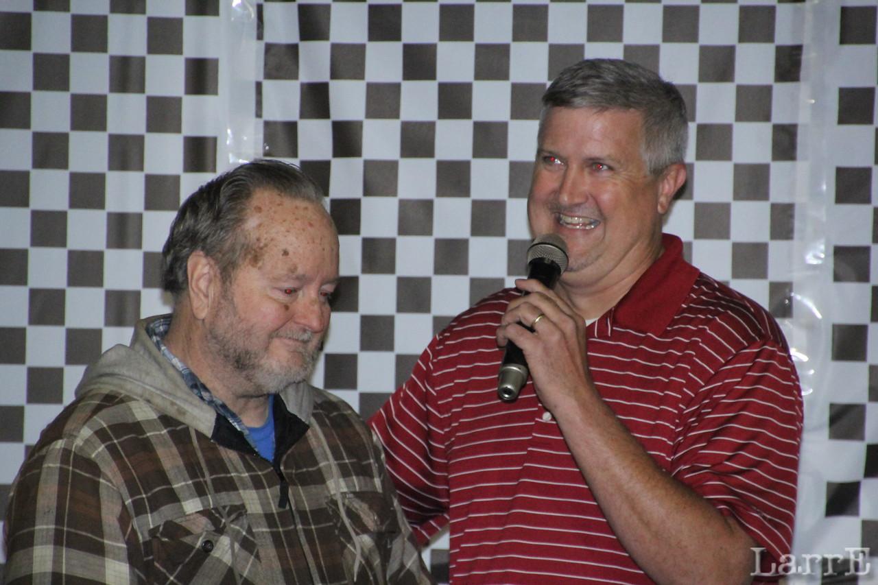 Wayne and announcer Mark Huey