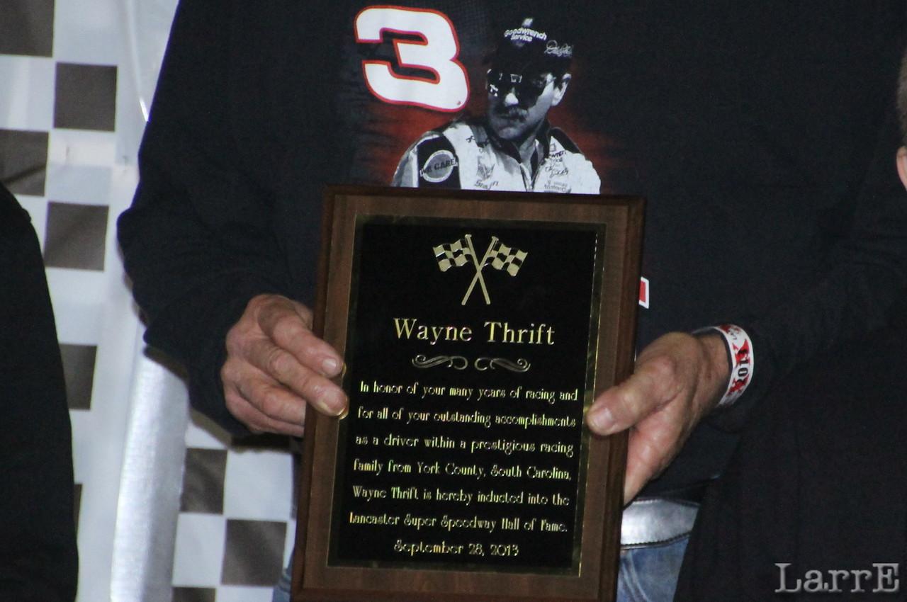 Wayne Thrift's plaque