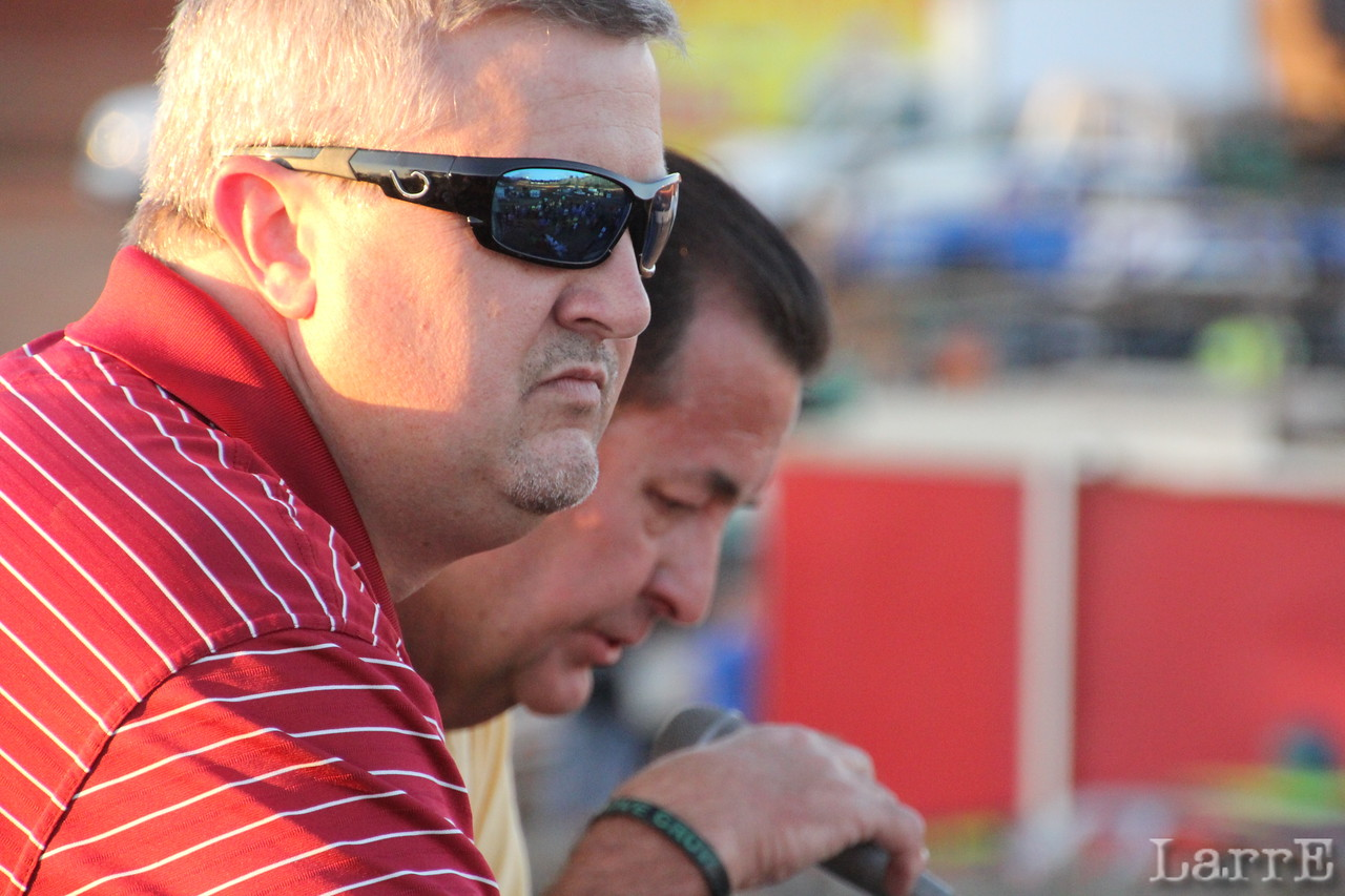 Mark Huey and track owner Doug McManus