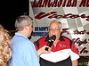 Mark Huey interviews Russell Sims who is retiring after many years of service to the Lancaster Speedway.