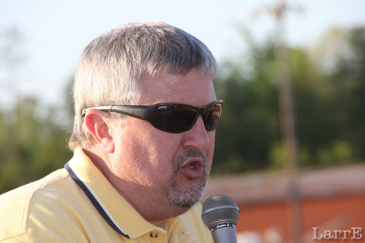 Mark Huey is the voice of Lancaster Speedway