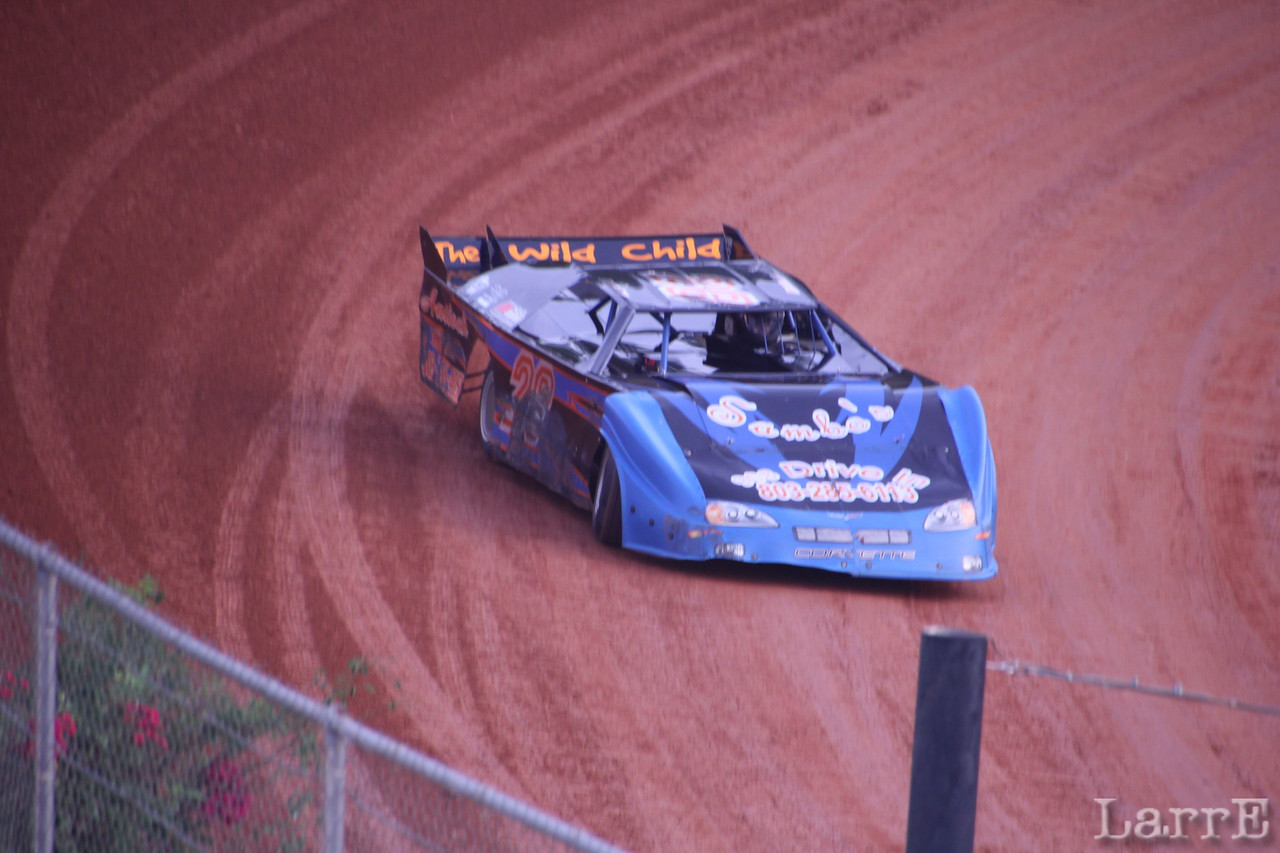 #28 Brandon Blackmon was 2nd in crate late model class