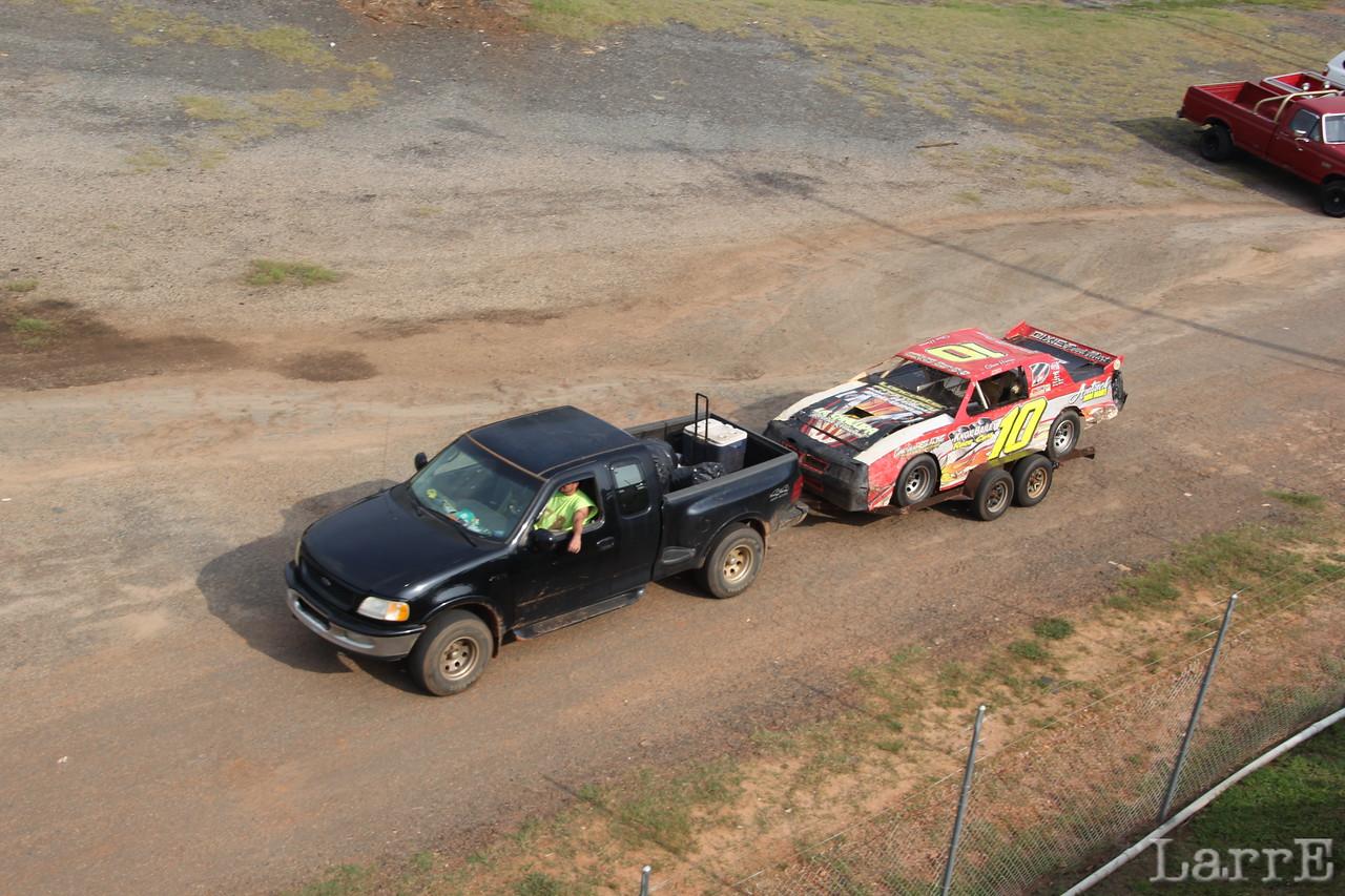 race cars start arriving.