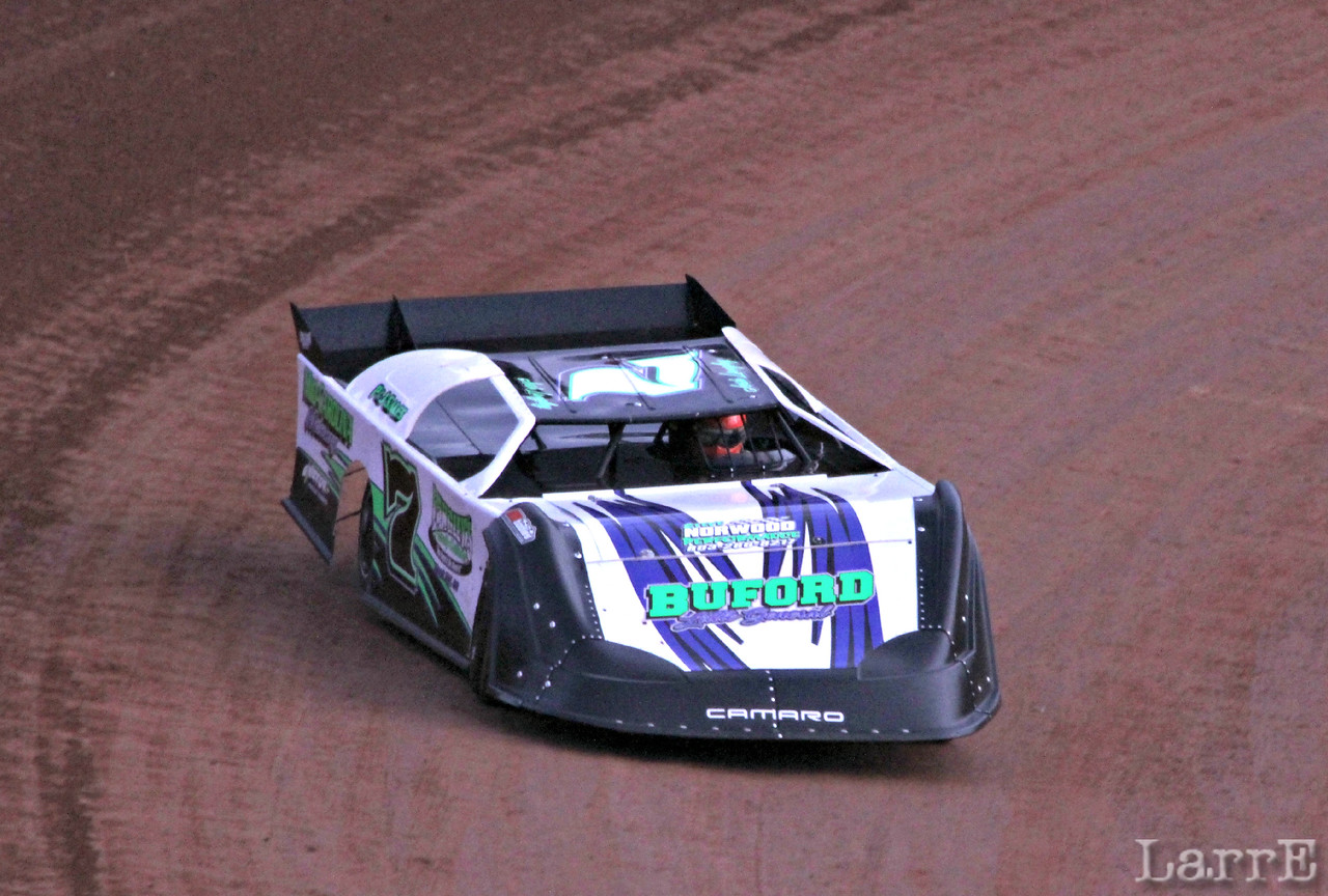 Josh Langley qualified 3rd in crate late model class