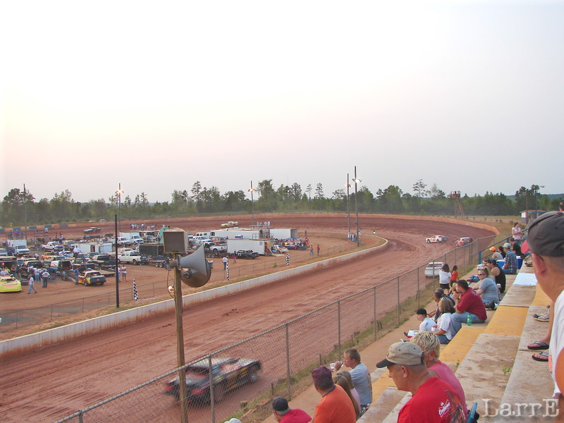 I took a night off and sat in the stands saturday night at Lancaster, SC