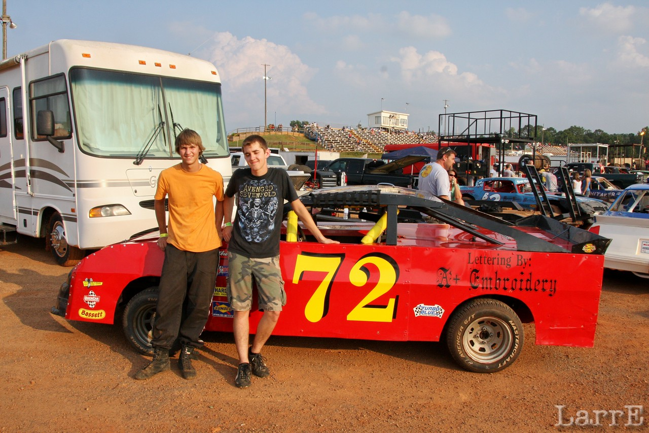 they both drive the #72....tonight it's Colton Haire
