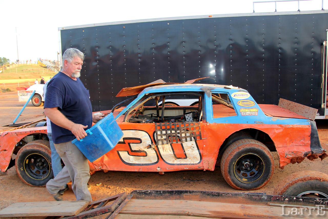 Mike Harrington brings out his racing gear.