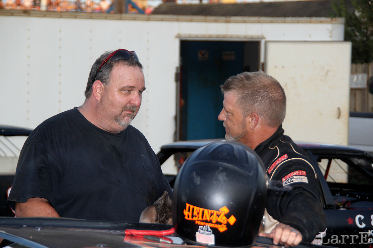 Jay Sessoms won last night at Carolina Speedway in Gastonia NC. He's telling Billy Lambert how he did it.