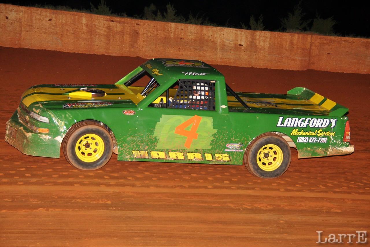 Jason Starnes drove the green hornet tonight