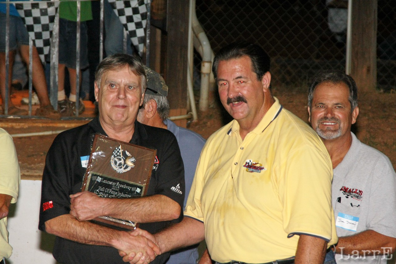Doug and Doug McManus track owner