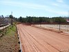 The new clay and down the main stretch.