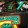 notice the little frog that rides with Andy in the frog racing car