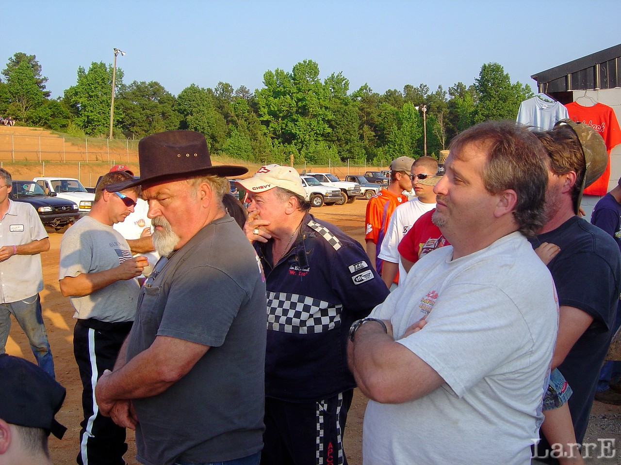 Mike Duvall attends the drivers meeting