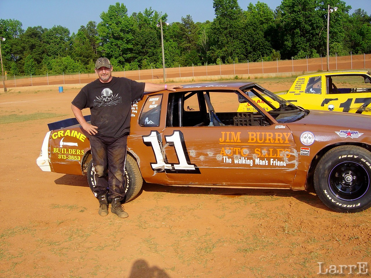 RICKY CRAINE and his #11 renegade car