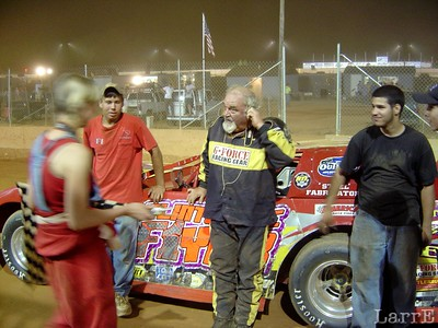 The ageless Mike Duvall won the super late model feature