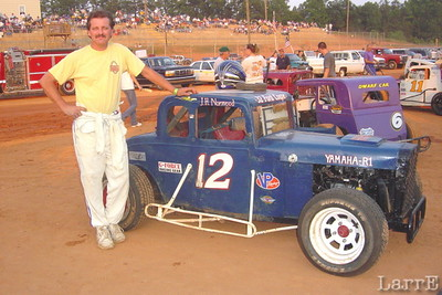 Jeff Norwood in the #12 is from Laurens, SC