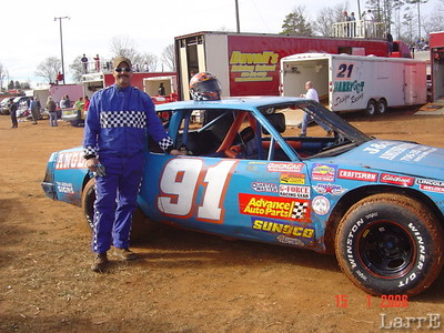 #91 Tyrone Anglin from Easley, SC in stock 8 class