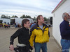 Austin Dillon and Kenny Wallace check out the starting line up
