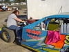 Rhonda Seets feeds the #9s modified