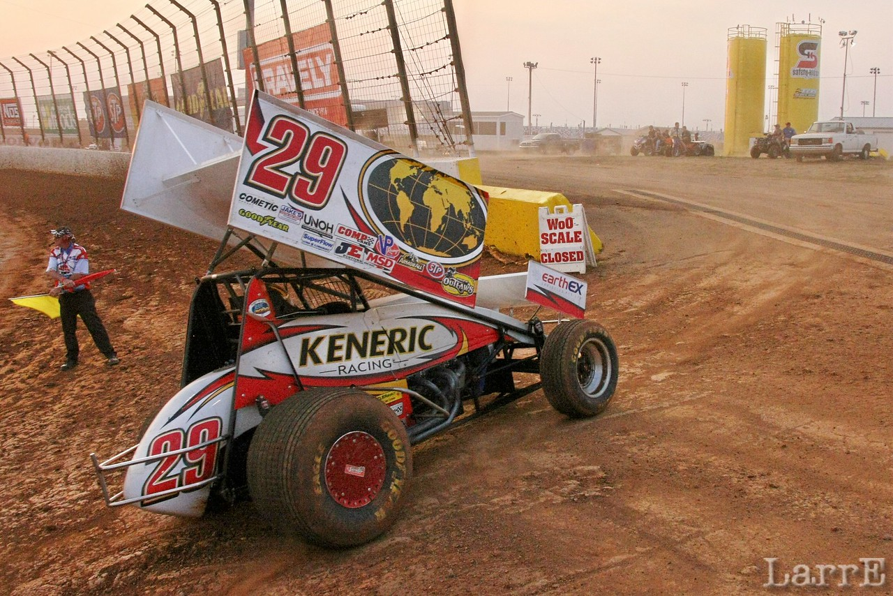 #29 Kerry Madsen was fast qualifier and finished 9th