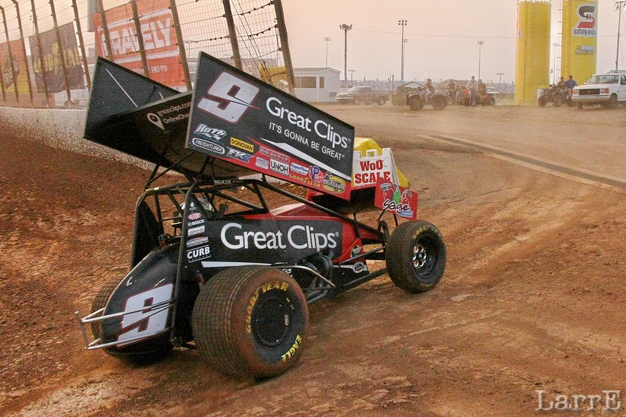#9 Joey Saldana won the race