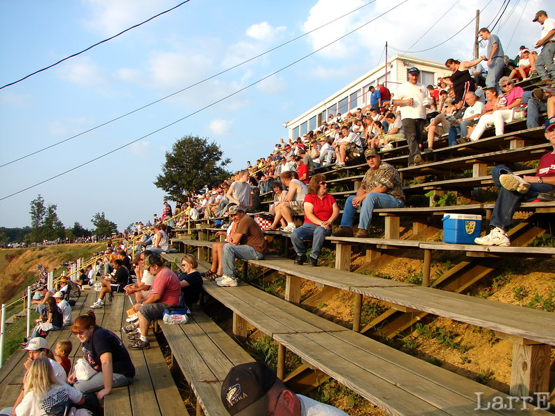 The grandstand starts to fill