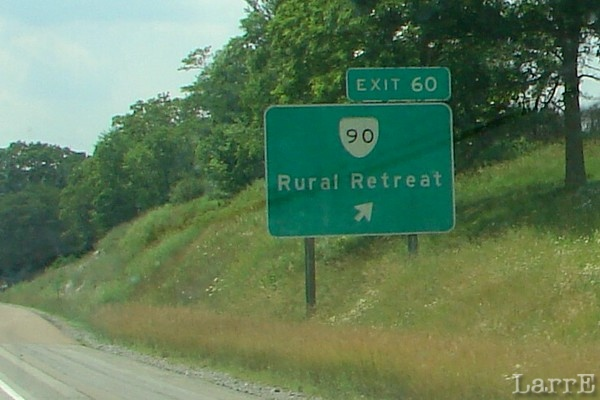 take exit 60 off I-81 west of Wytheville