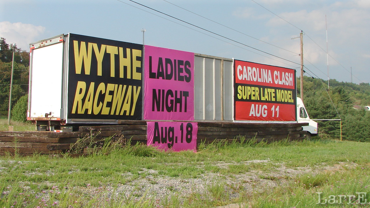 "This ad is on the northside of I-81. <br /> By the way...it's pronounced W-I-T-H ...""With Raseway at Withvil, Verjinya"" Got it?"