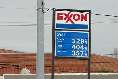 My first $4 a gallon sign (it's North Carolina)