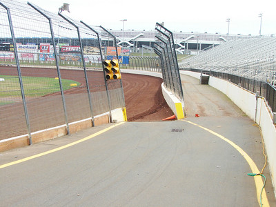The on ramp to the track, down the main straight.