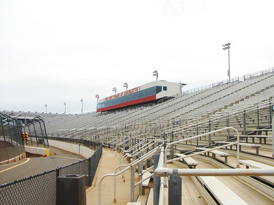 The dirt track grandstand