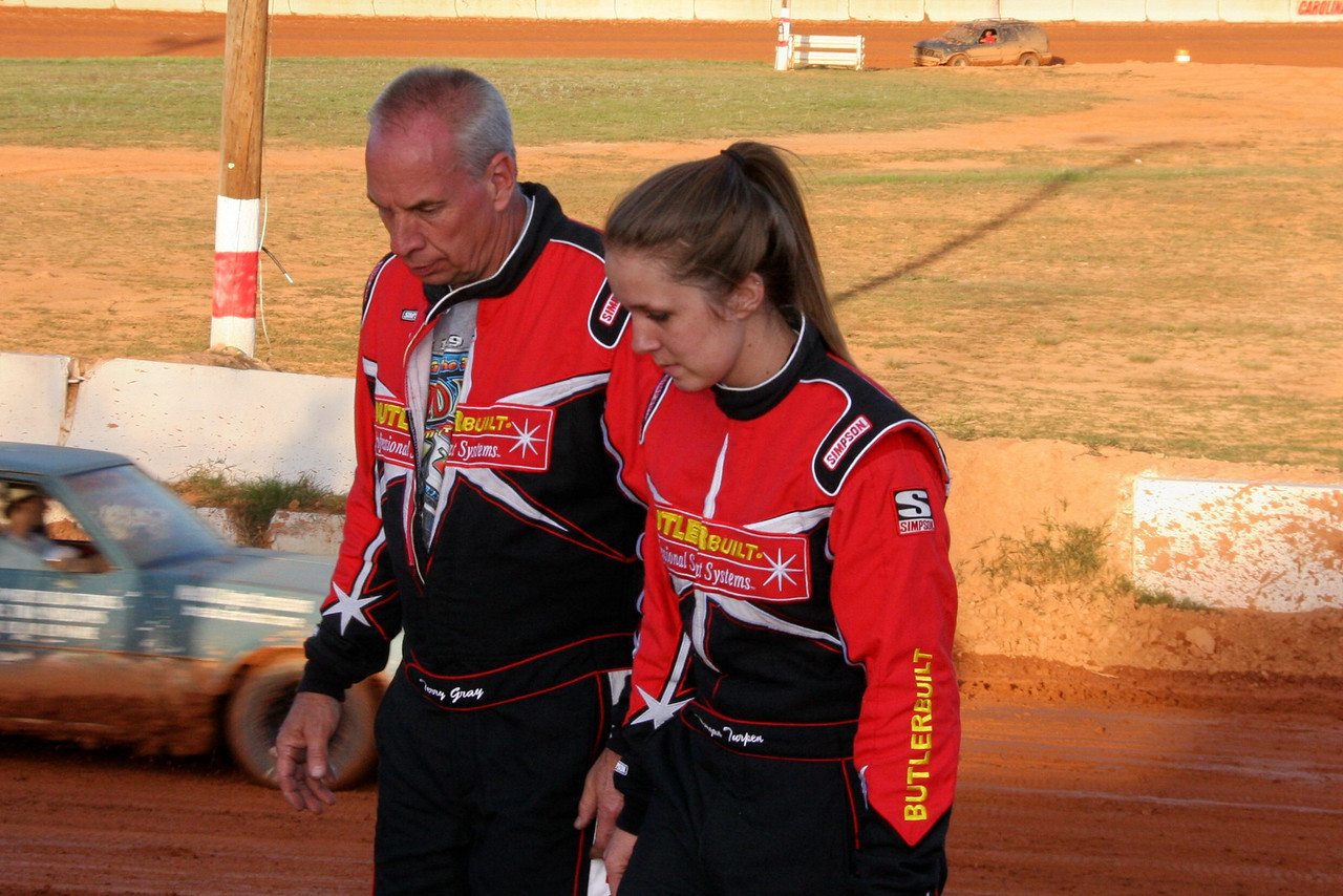 team mates Terry Gray and Morgan Turpin...the Ole Man and the Young Lady