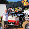Ray Bugg drives the #25 USCS sprint car