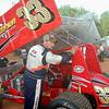 #33 John Larkin will flip this racer tonight..while leading
