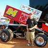 #24 Justin Carver is the leading rookie this year
