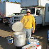 "DOUG cooks up some ""low country boil"" for the Tim Allen crew."