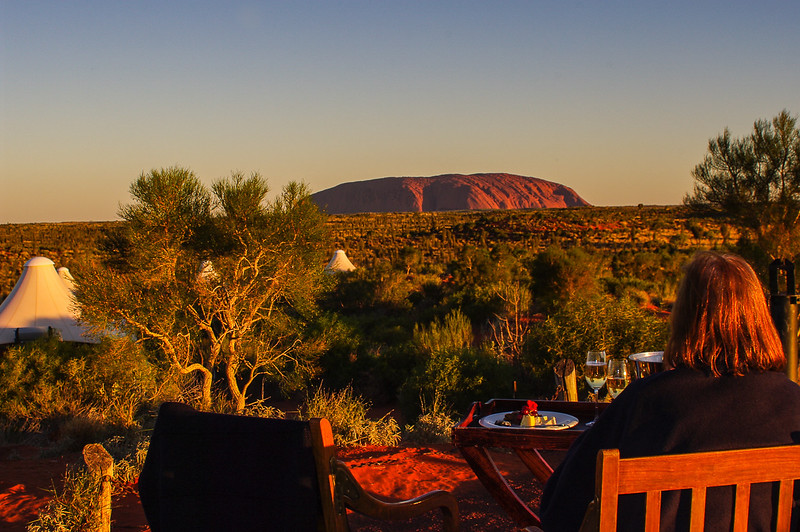 Uluru sunset with champagne supper!