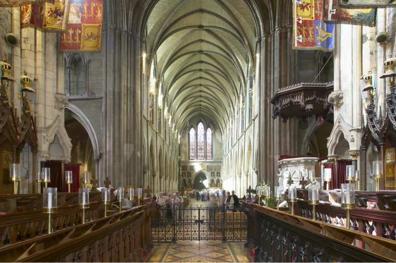 St Patrick's, looking West from the Choir