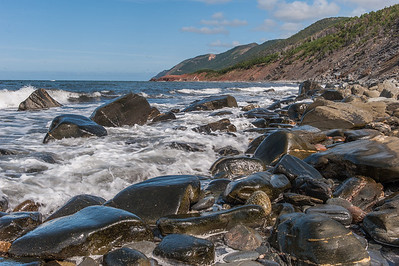 The seacoast along  the Cabot Trail  in Cape Breton Highlands National Park near Cheticamp